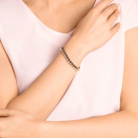 Lane Armband, schwarz, Rosé vergoldet - Swarovski, 5414993