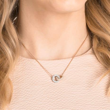 Stone Necklace, Multi-colored, Rose-gold tone plated - Swarovski, 5414999