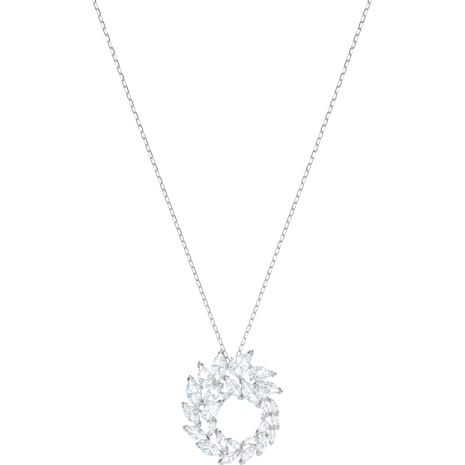 Louison Pendant, White, Rhodium plated - Swarovski, 5415989