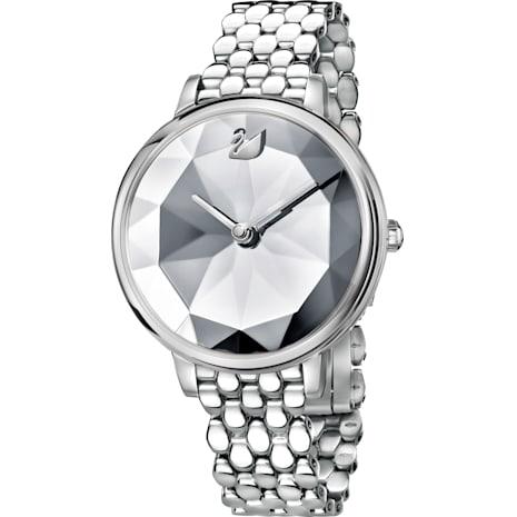 Montre Crystal Lake, Bracelet en métal, blanc, acier inoxydable - Swarovski, 5416017