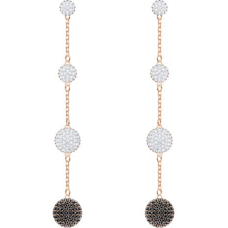 Lollypop Pierced Earrings, Multi-colored, Rose-gold tone plated - Swarovski, 5416527
