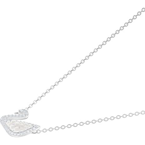 Swarovski Iconic Swan Necklace, White, Rhodium plated - Swarovski, 5416605