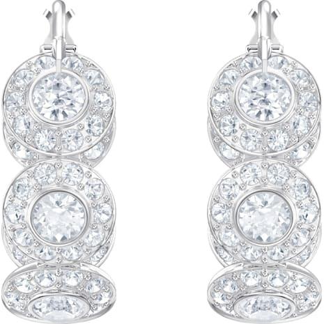 Angelic 穿孔耳環, 白色, 鍍白金色 - Swarovski, 5418269