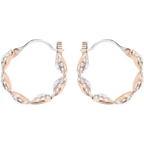 Orecchini a cerchio Angelic, bianco, Placcato oro rosa - Swarovski, 5418271