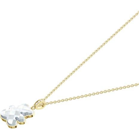 Teddy Pendant, White, Gold-tone plated - Swarovski, 5418715