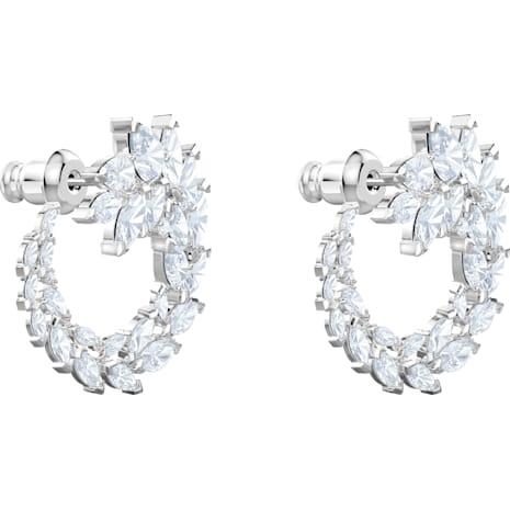 Boucles d'Oreilles Louison, blanc, Métal rhodié - Swarovski, 5419245