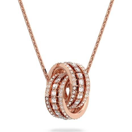 Further Pendant, White, Rose-gold tone plated - Swarovski, 5419853