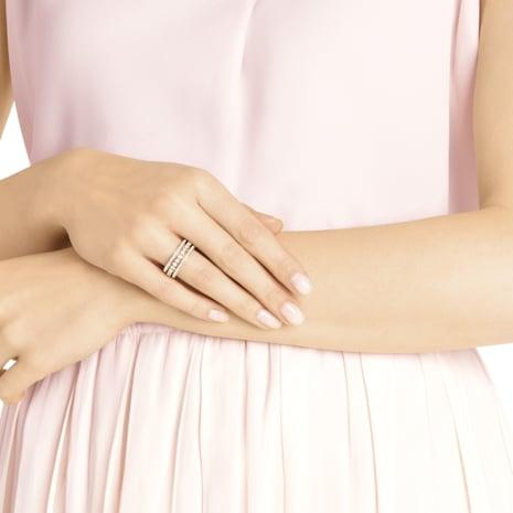 Bague Further, blanc, Métal doré rose - Swarovski, 5419854
