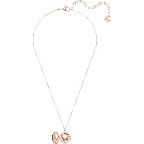 Locket Pendant, Black, Rose-gold tone plated - Swarovski, 5421295