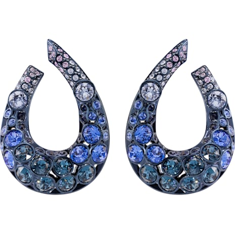 Magnetized Ohrringe, mehrfarbig, Blaues PVD-Finish - Swarovski, 5422710