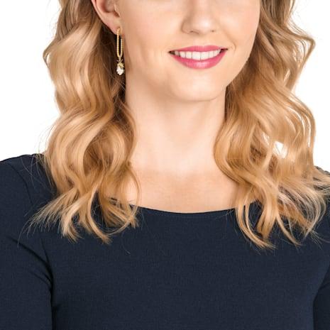 Magnetic Hoop Pierced Earrings, Multi-colored, Mixed metal finish - Swarovski, 5423175