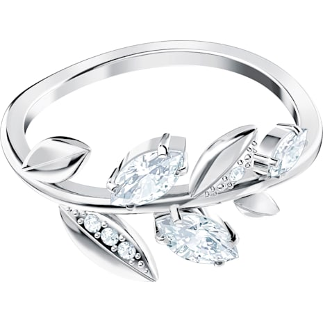 Mayfly Ring, White, Rhodium plated - Swarovski, 5423183