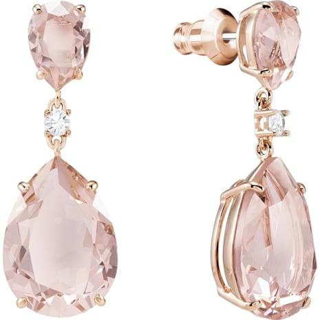 Vintage Drop Ohrringe, rosa, Rosé vergoldet - Swarovski, 5424361