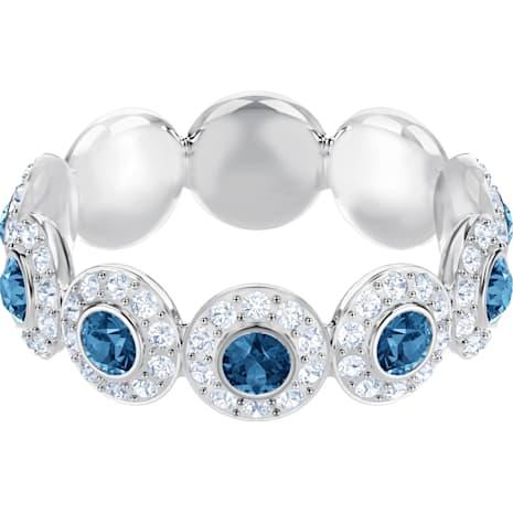 Angelic Ring, Teal, Rhodium plated - Swarovski, 5424993