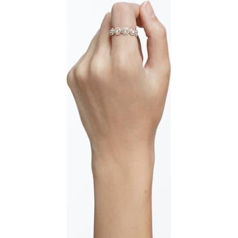 Angelic 戒指, 白色, 鍍玫瑰金色調 - Swarovski, 5424994