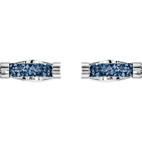Boutons de Manchettes Crystaldust, bleu, acier inoxydable - Swarovski, 5427116