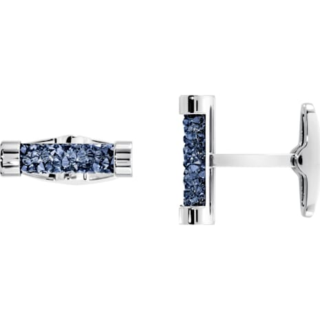 Crystaldust Cuff Links, Blue, Stainless steel - Swarovski, 5427116