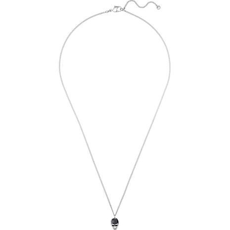 Taddeo Pendant, Black, Palladium plated - Swarovski, 5427128