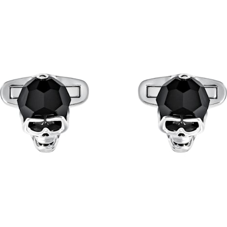 Taddeo Cuff Links, Black, Palladium plated - Swarovski, 5427147