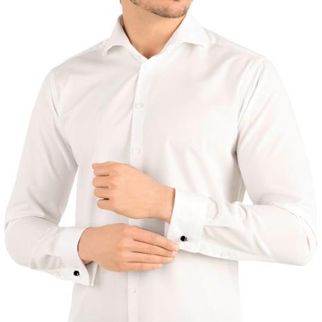 Taddeo 袖扣, 黑色, 鍍鈀色 - Swarovski, 5427147