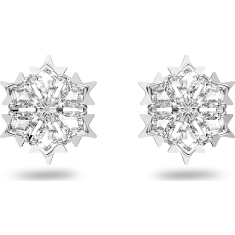 Pendientes Magic, blanco, Baño de Rodio - Swarovski, 5428430