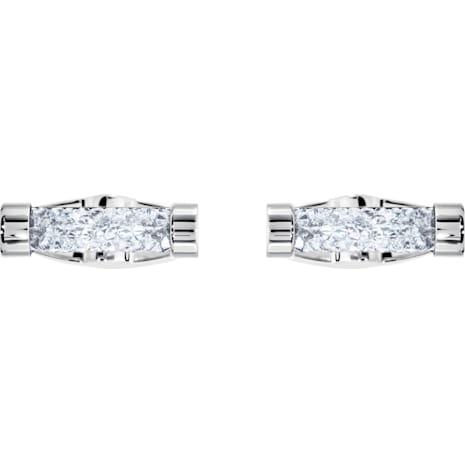 Crystaldust Cuff Links, White, Stainless steel - Swarovski, 5429896