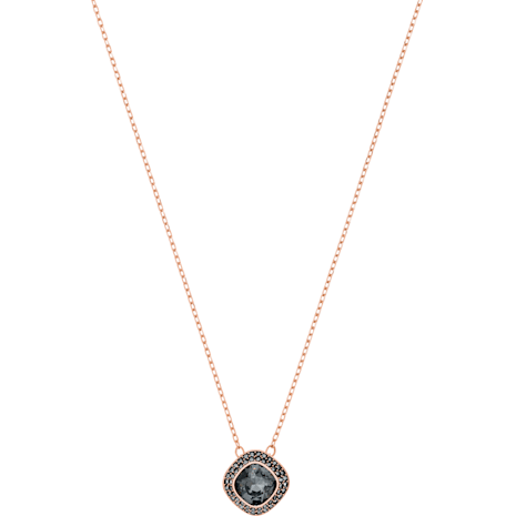 Lattitude Pendant, Gray, Rose-gold tone plated - Swarovski, 5430358