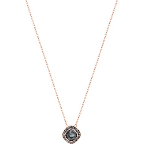Pendentif Lattitude, gris, Métal doré rose - Swarovski, 5430358