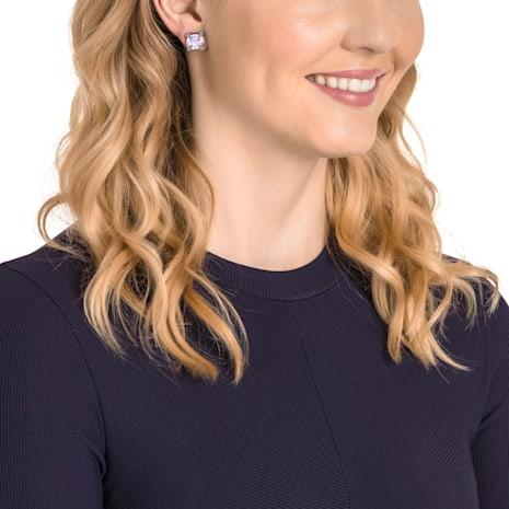 Make Pierced Earrings, Violet, Rose-gold tone plated - Swarovski, 5430408