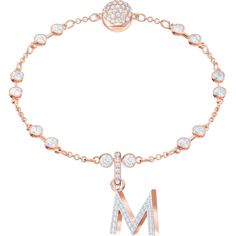 Swarovski Remix Collection Charm M, blanc, Métal doré rose - Swarovski, 5434395