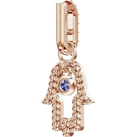 Swarovski Remix Collection Hamsa Hand Charm, Многоцветный Кристалл, Покрытие оттенка розового золота - Swarovski, 5434402
