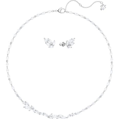 Louison Комплект, Белый Кристалл, Родиевое покрытие - Swarovski, 5435164
