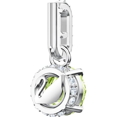 Swarovski Remix Collection Charm, August, Light Green, Rhodium plated - Swarovski, 5437317