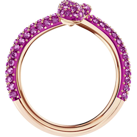 Leslie Ring, Fuchsia, Rose-gold tone plated - Swarovski, 5438405