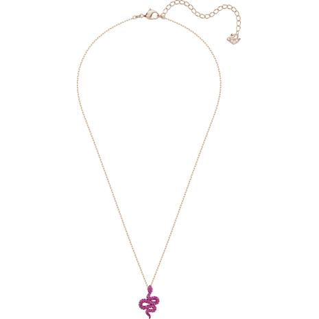 Leslie Pendant, Fuchsia, Rose-gold tone plated - Swarovski, 5438407