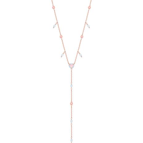 Collier en Y One, multicolore, Métal doré rose - Swarovski, 5439313