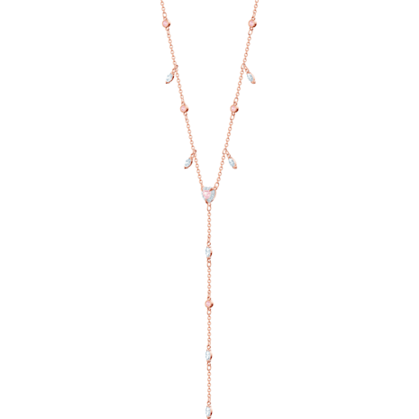 One Y Necklace, Multi-coloured, Rose-gold tone plated - Swarovski, 5439313