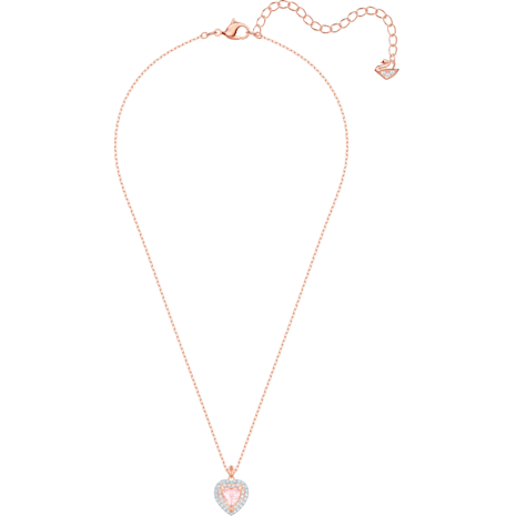 One Pendant, Multi-coloured, Rose-gold tone plated - Swarovski, 5439314