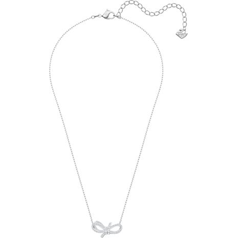 Lifelong Bow Kolye, Beyaz, Rodyum kaplama - Swarovski, 5440643