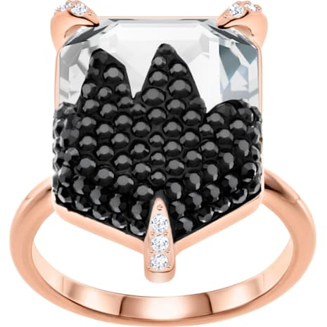 Make Cocktail Ring, Multi-coloured, Rose-gold tone plated - Swarovski, 5446240