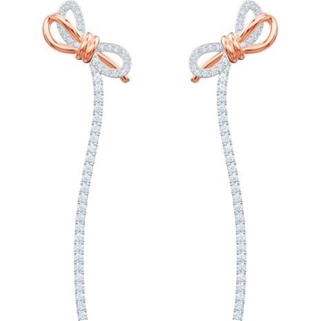 Orecchini Lifelong Bow, bianco, Mix di placcature - Swarovski, 5447083