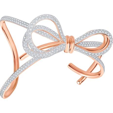 Brazalete Lifelong Bow, blanco, Combinación de acabados metálicos - Swarovski, 5447088