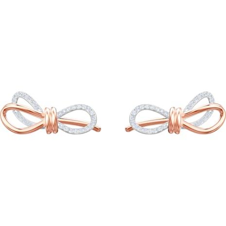 Orecchini Lifelong Bow, bianco, Mix di placcature - Swarovski, 5447089