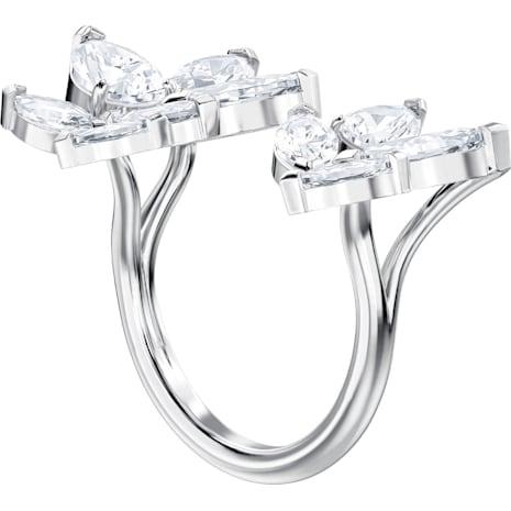 Louison Open Ring, White, Rhodium plated - Swarovski, 5448849
