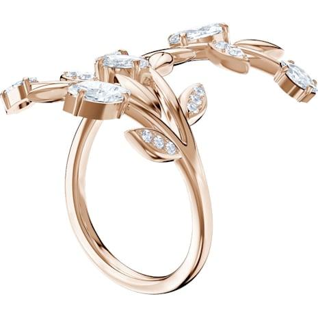 Mayfly Ring, White, Rose-gold tone plated - Swarovski, 5448883