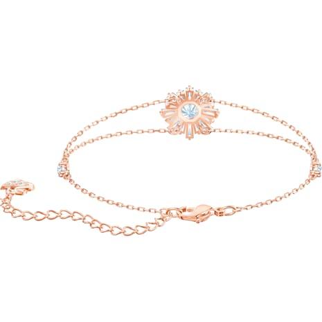 Bracelet Sunshine, blanc, Métal doré rose - Swarovski, 5451357