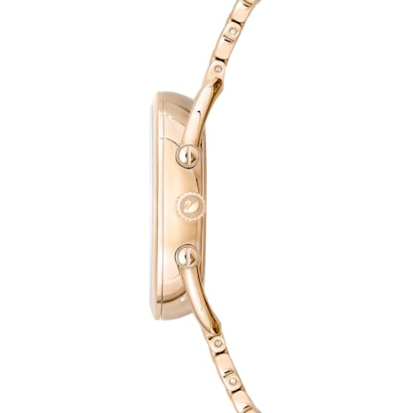 Crystalline Glam Saat, Metal bileklik, Gri, Şampanya altın rengi PVD - Swarovski, 5452462