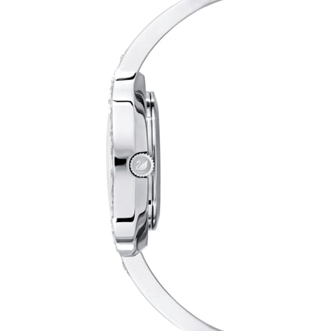Lovely Crystals Bangle Watch, Metal bracelet, White, Stainless steel - Swarovski, 5452492