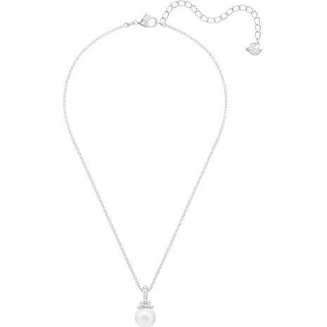 Originally Pendant, White, Rhodium plated - Swarovski, 5452584