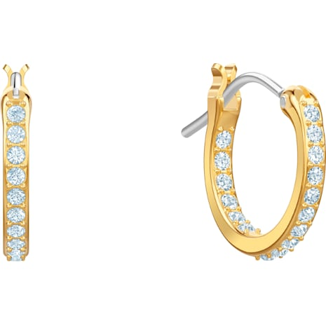 No Regrets Banana Pierced Earrings, Multi-colored, Gold-tone plated - Swarovski, 5453571